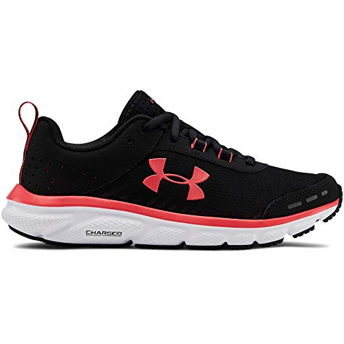 Under Armour Women's Charged Assert 8 Running Shoe, Black (003)/White, 10.5