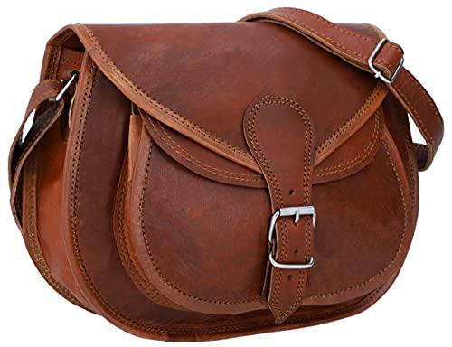 Gusti sac à bandoulière femme cuir - Evelyn sac à main cuir véritable vintage sac en bandoulière marron petit sac bohème chic sac rétro petit format accessoire unisexe