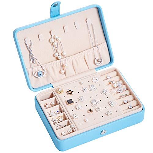 YYXDP Tragbare Aufbewahrungsbox Kosmetikbox Pu Schmuckschatulle Ohrring Multifunktionale Aufbewahrungsbox