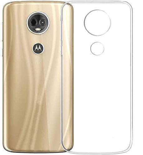 REY Pack 3X Cover in Gel TPU Trasparente per Motorola Moto E5 Plus, Ultra Sottile 0,33 mm, Morbido Flessibile, Custodia Silicone