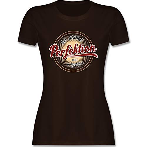Geburtstag - 50 Jahre Perfektion seit 1970 - S - Braun - Shirt 1969 Damen - L191 - Tailliertes Tshirt für Damen und Frauen T-Shirt