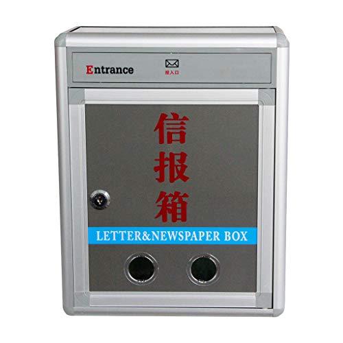 Nologo Wandbriefkästen Briefkasten-große Außenwand-Briefkasten-wasserdichte Multifunktionsbox-Tür-wasserdichte Büro-Halle