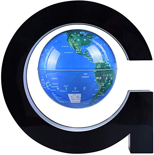 Autoks Magnetic Levitation Globe Maglev World Map G Shape Magnetic Suspension Earth Globe with LED Light for Best Birthday Gift for Kids