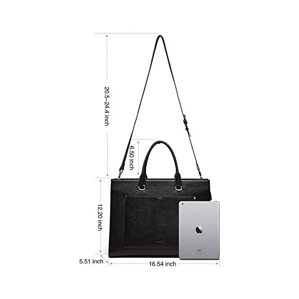 CLUCI Briefcase for Women Leather Slim 15.6 Inch Laptop Business Shoulder Bag Black CLUCI Women Genuine Leather Hobo Handbags Designer Top Handle Tote Large Purses Fashion Ladies Shoulder Bag 2