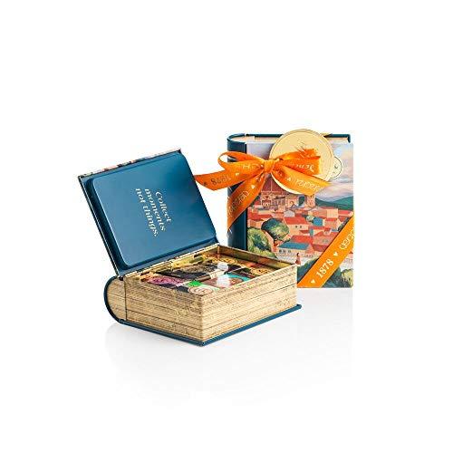 Edizione Firenze - Set Regalo con Cioccolatini Granblend Misti 124g, Mini Libro in Latta - Senza Glutine
