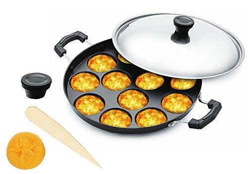 Niet Stick Appam Pan,Appam Maker,12 Pits Appam Maker, Nonstick Appam Pan,Appa Chetty Paniyaram Pan Patra Tawa Niet Stick