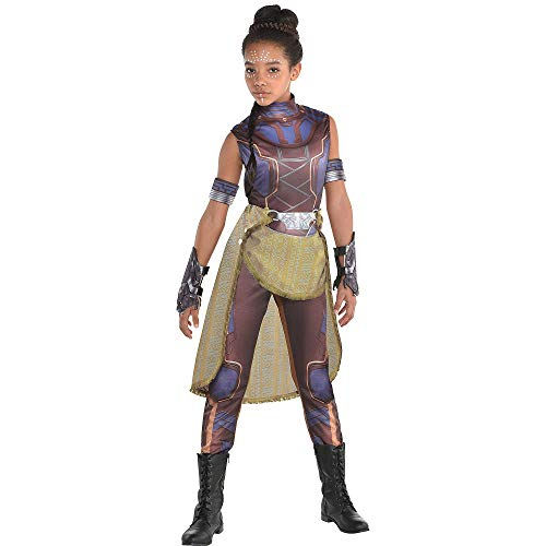 Costumes USA Black Panther Shuri Costume for Girls, Size Small, Includes a Catsuit, Arm Bands, Gloves, and a Belt