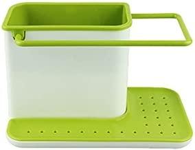 Inditradition 3 in 1 Bathroom Soap & Liquid Organizer Tray Stand (for Liquid, Brush, Cloth, Soap, Sponge), Plastic