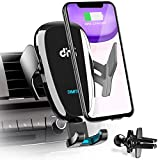 DM Wireless Car Charger 10W Qi Fast Charging Air Vent Car Phone Mount Automatic Clamping Cell Phone Holder Compatible with iPhone Xs Max/XR/XS/X/8 Plus, Samsung Galaxy S10/S10 Plus/S9/S8/S7/Note 9 10