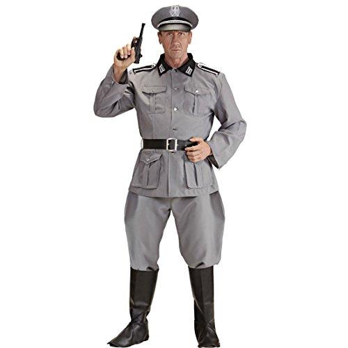 NET TOYS Herrenkostüm Deutscher Soldat WW2 Soldaten Kostüm XL 54 Historisches Soldatenkostüm Offizier Militär Uniform General 2. Weltkrieg Verkleidung Armee Outfit Männer