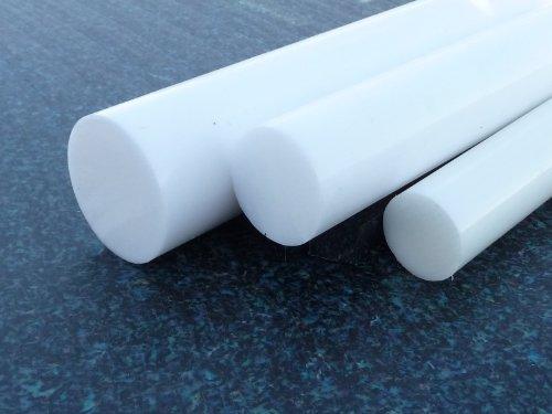 Rundstab aus PTFE weiß Ø 20 mm, Lang 200 mm Kunststoffrundstab (Teflon) alt-intech®