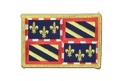MaxFlags® écusson brodé drapeau France Bourgogne 6x8cm