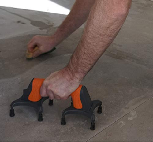 EASYLEAN, Trowel Support Tool, drywall & floor support tool, also for gardening/painting - with ERGONOMIC, RUBBERIZED NON-SLIP GRIP. Great for helping set tiles/floor adhesives.