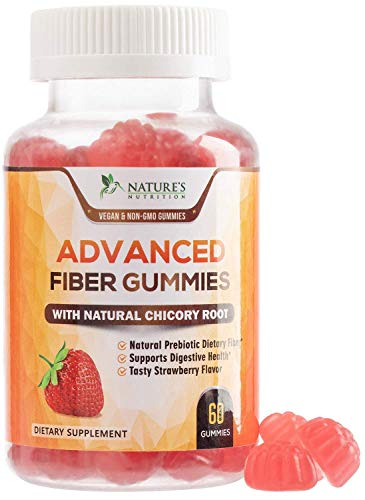 Fiber Gummies for Adults Extra Strength Inulin Gummy 300mg - Natural Dietary Fiber Supplement for Digestion & Natural Weight Support - 60 Gummies