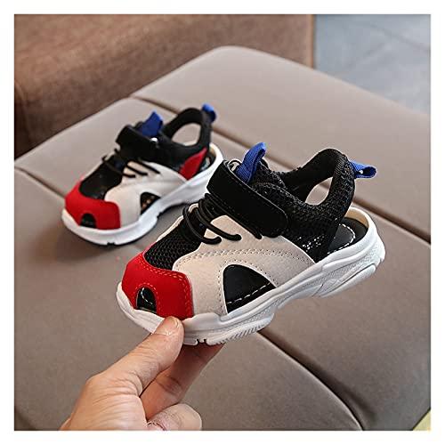 Youpin Zapatos de verano para bebé, sandalias de playa para niños, parte inferior de cuero suave, antideslizante, puntera cerrada, zapatos de seguridad para niños (color: Q, tamaño de zapato: 31)
