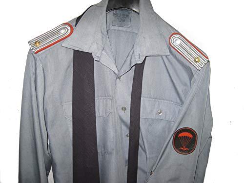 Lagermaulwurf NVA Hemd NVA Fallschirmjäger NVA Fallschirmspringer Leutnant Krawatte Abzeichen