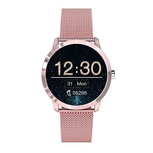 Reloj inteligente para teléfonos Android compatible con Samsung iPhone, rastreador de sueño, reloj inteligente impermeable con monitor de presión arterial de frecuencia cardíaca