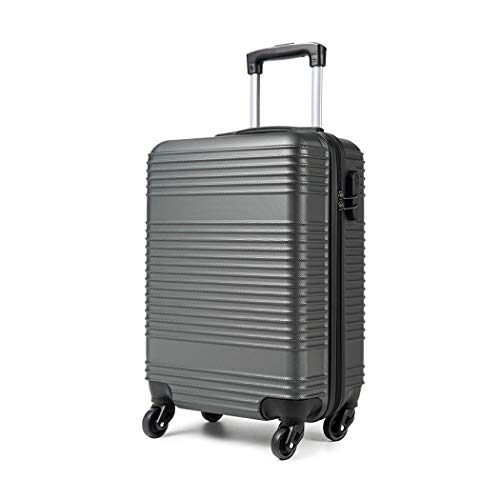 Kono Carry On Suitcase Hand Cabin Luggage Lightweight with Durable 4 Spinner Wheels, 20'' Grey