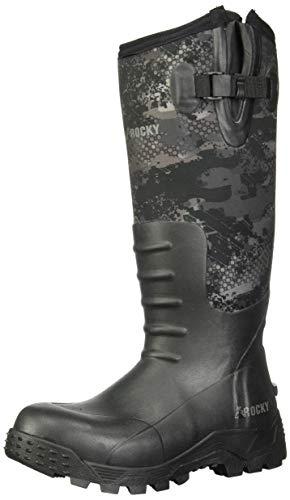 Rocky Men#039s Sport Pro Rubber Waterproof Outdoor Boot Knee High Venator Camo 9 M US
