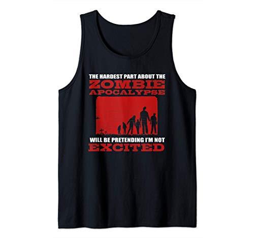 Apocalipsis Zombie Excited - Funny Nerd Saying - Horror Camiseta sin Mangas