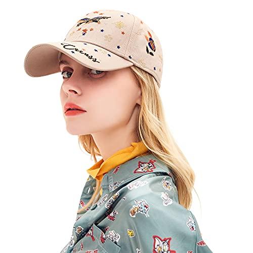 CACUSS Classic Damen Baseball Cap Verstellbar Baseballmütze Frauen Mädchen Kappen Baumwolle Baseball Sports Sonnenhut (Khaki)