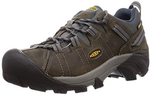 KEEN Men's Targhee II Hiking Shoe, Gargoyle/Midnight Navy - 10 D(M) US
