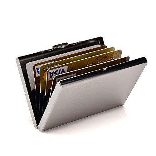 RFID Credit Card Holder Metal Wallet Slim Credit Card Case Protector Business Card Holder for Women or Men