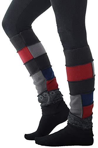 PUREWONDER Damen Beinstulpen aus Fleece Beinwärmer Modell Nr. 1 Farbe Schwarz