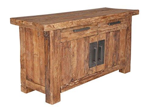 SIT-Möbel Coral 4409-01 Kommode mit 2 Türen & 2 Schubladen, recyceltes Teakholz, braun, 125 x 45 x 78 cm