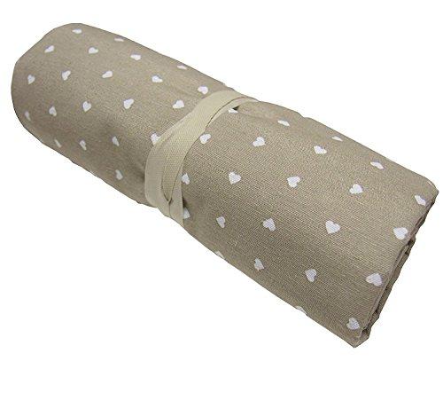BA COLLECTION Grandfoulard - Telo copritutto - copridivano - copriletto- tendaggio col. Beige MOD. Cuoricini 240x260 cm