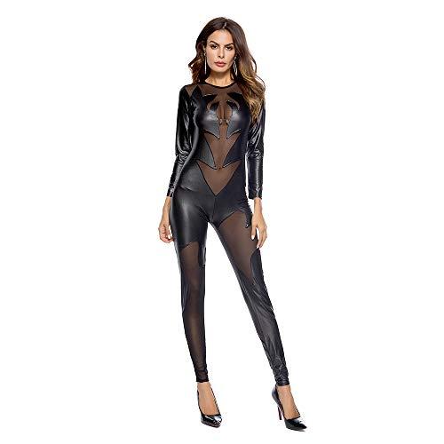 YUYAOBING Sexy Dessous Explosions Lackleder für Frauen Sexy Halloween Explosions Lackleder Uniform Damen Strumpfhose