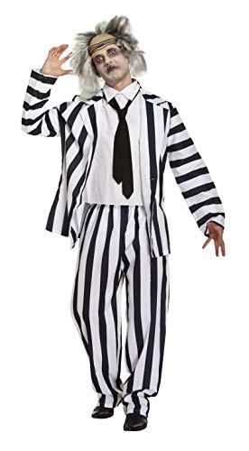 Emmas Wardrobe Verrücktes Geist Kostüm Männer - Zombie Professor Outfit für Ihren nächsten Halloween oder Märchen Partei UK Größe M-L (Men: Medium, Ghost)