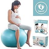 BABYGO Gymnastikball Schwangerschaft Sitzball Büro Schwangere Yoga Pezziball 65cm