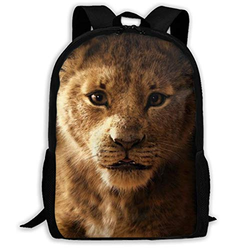 huatongxin Lion King, mochila de viaje para adultos, se adapta a mochilas para portátiles de 15,6 pulgadas, mochila escolar, mochila informal para hombres y mujeres