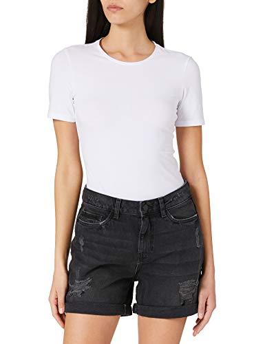 Noisy May NOS DE Damen NMSMILEY NW Dest VI061BL BG NOOS Shorts, Black Denim, L