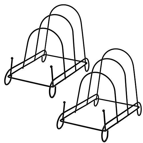 Artliving 3-Tier Metal Scrollwork Dish Rack Plate Rack Display Stand Holder Cabinet Organizer Set of 2