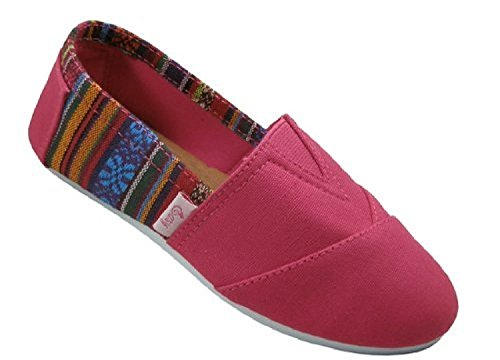 Womens Canvas Slip on Shoes Flats 2…