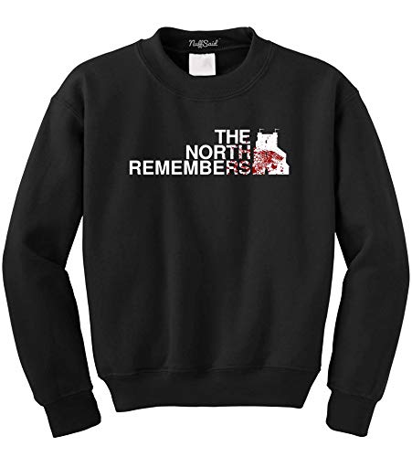 NuffSaid The North Remembers Towers Logo GoT Thones Crew Neck – Unisex...