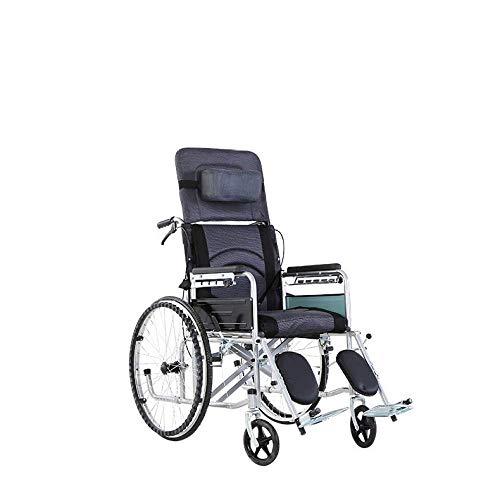 Creatieve senioren multifunctionele volledige liggend hoge rug rolstoel, opvouwbare en draagbare transport koffer voor de ouderen, Travel Trolley, zes positie verstelbare gezondheid massage/hoeveelheid 2 / 120X90Cm