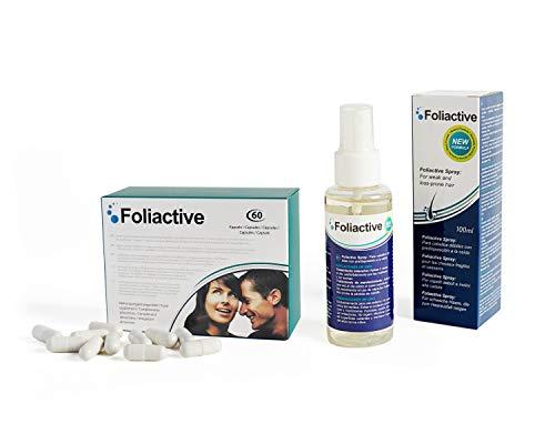 Caída del cabello - Foliactive Pills + Foliactive Spray: Pastillas y Spray para detener la caída del cabello