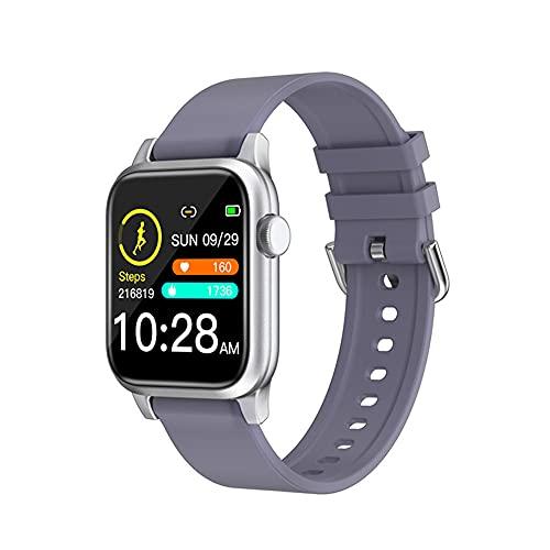WANJUN Pulsera Inteligente, recordatorio de información de Marcado Deportivo Bluetooth, cámara remota, rastreador de Actividad física de frecuencia cardíaca y presión Arterial,Gris