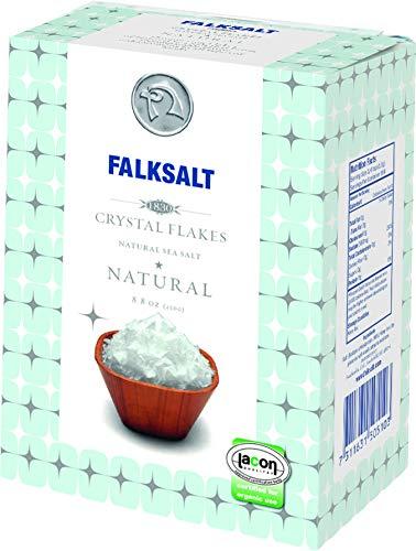 FALKSALT Cyprus Organic Sea Salt Flakes, 8.8oz Box