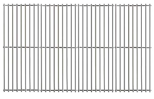 Hisencn Stainless Steel Cooking Grid Grates JCX531(4-Pack) Replacement Parts for Turbo 4-Burner, 5-Burner, 720-0057-4B, 750-0058-4BRB, Nexgrill 720-0584A, Perfect Flame 720-0335 Gas Grill