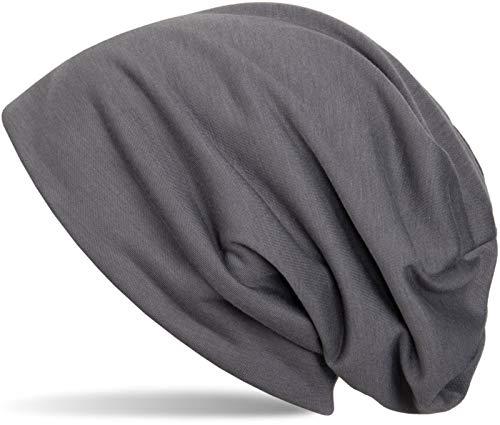 styleBREAKER Klassische Slouch Beanie Mütze, leicht und weich, Longbeanie, Unisex 04024018, Farbe:Anthrazit