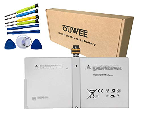 OUWEE DYNR01 Tablet Battery Compatible with Microsoft Surface Pro 4 1724 12.3 inch Series Notebook G3HTA027H 7.5V 38.2Wh 5087mAh Tools