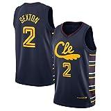 Sexton # 2 Basketball Jersey, Cavaliers City Edition Men 2021 Camisa de Baloncesto, USA un Chaleco cómodo, Adecuado para el Ejercicio físico M