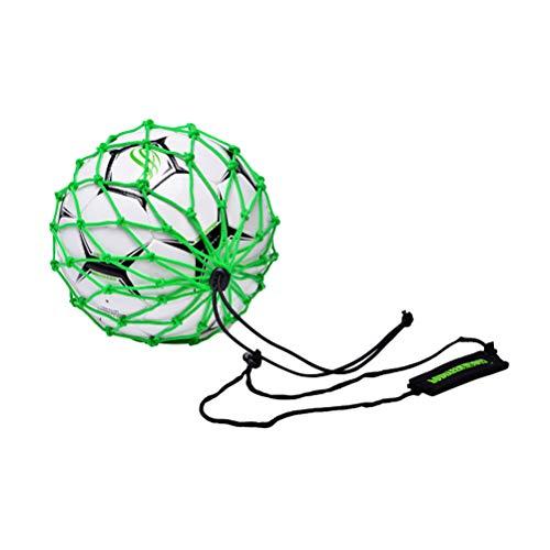 LIOOBO Head Ball Net Bag Bolsa de Almacenamiento portátil de Malla de Red portátil para Equipo de fútbol de Entrenamiento - Verde