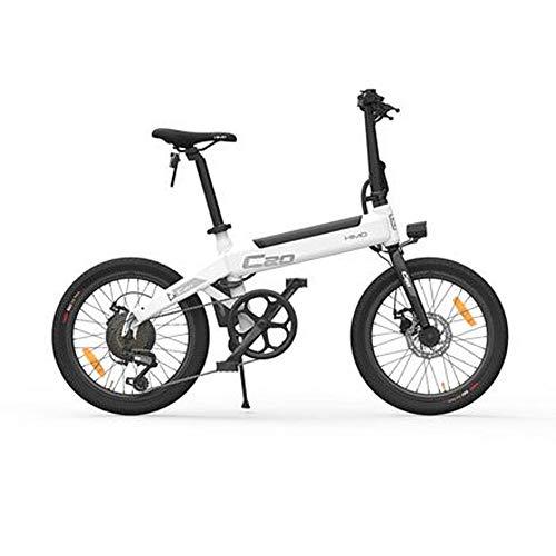 HIMO Bicicleta eléctrica Plegable Bicicleta eléctrica de 20 '' Motor Potente de 250 vatios Modo de conducción conmutable de Tres velocidades y 6 velocidades, hasta 25 km/h, kilometraje máximo 80 km