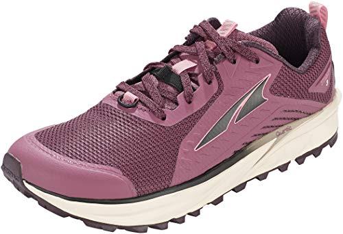 ALTRA Women's AL0A4VRB TIMP 3 Trail Running Shoe, Plum/Coral - 9 M US