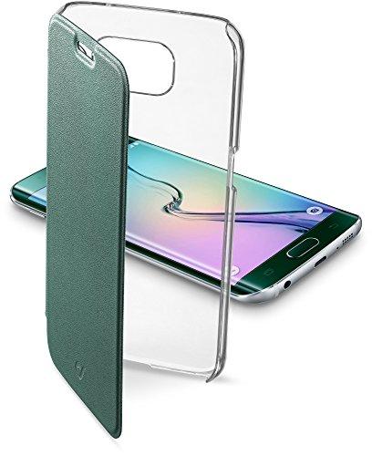 Cellular Line CCLEARBOOKGALS6EG Starre transparente Schutztasche mit Klappe im Book-Style fur Samsung Galaxy S6 Edge